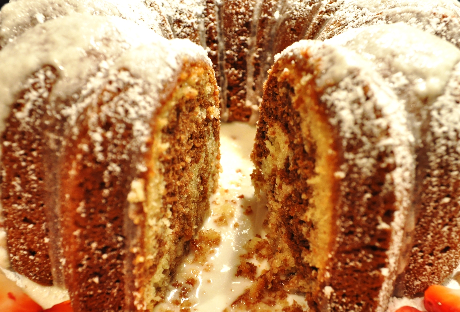 Marble Bundt Cake with Simple Sugar Frosting - The Male Baker